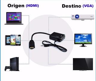 Mendoza Cable Adaptador Hdmi Vga Video Audio Ps3 Proyector