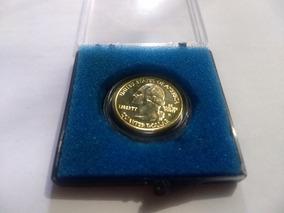 Moeda Quarter Dólar 2001 Ouro/prata