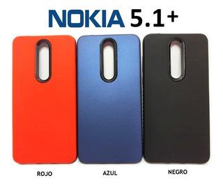 Funda Rigida Lisa Protege Cámara Nokia 5.1 Plus 5.1+ Rosario