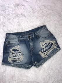 Short Jeans - Feminino - Desfiado - Boyfriend - Tamanho 38