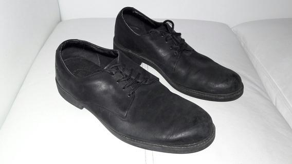 Zapatos Timberland De Hombre 42 43 Negros Cordones Cuero