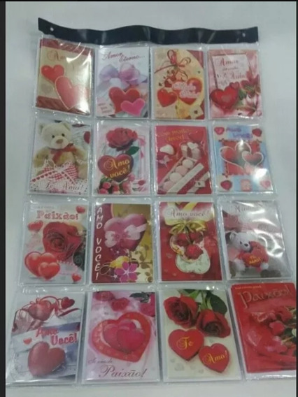 Cartões Com Mensagens Amor E Carinho C/48 Und + Envelopes