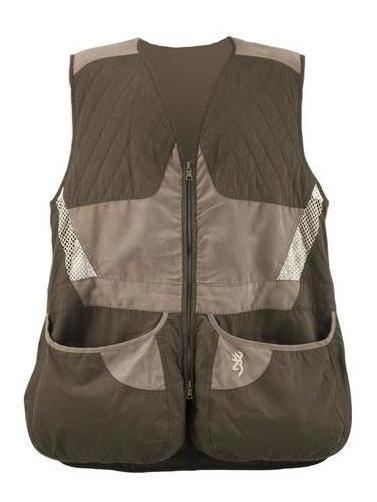 Chaleco Tiro Escopeta Browning Summit Mens Vest Choc/taupe L