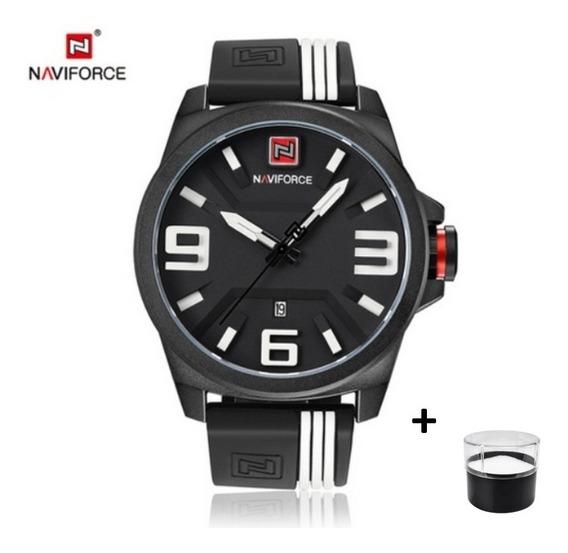 Relógio Esportivo Naviforce Dial 3d Faixa Exclusiva 3bar