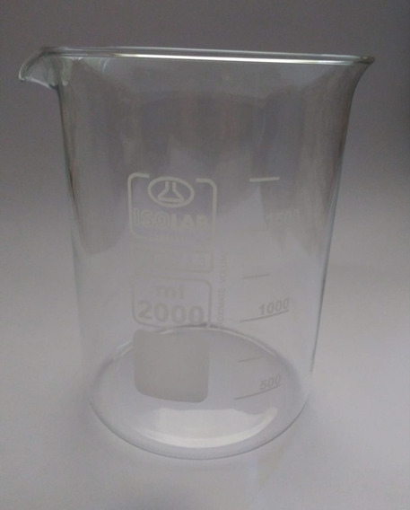 Vaso De Precipitado De 2000ml Uso Laboratorio Isolab