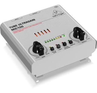 Preamplificador Behringer Tube Ultragain Mic100 - Garantía