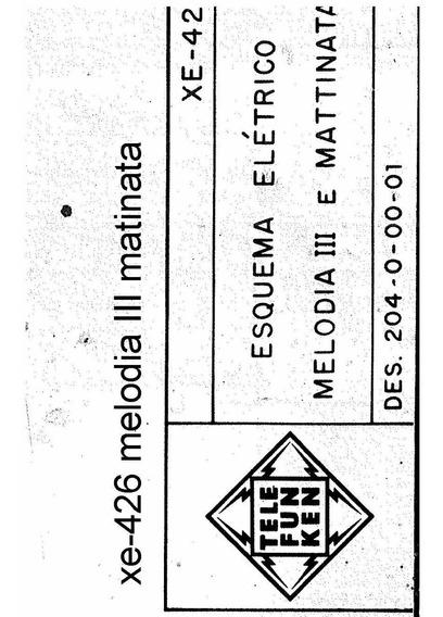 Esquema Telefunken Mattinata Xe426 Em Pdf Alta Resoluçã
