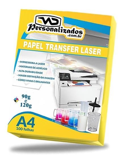 100 Papel Transfer Laser Folha Longdrink Promoção 90 Ou 120g
