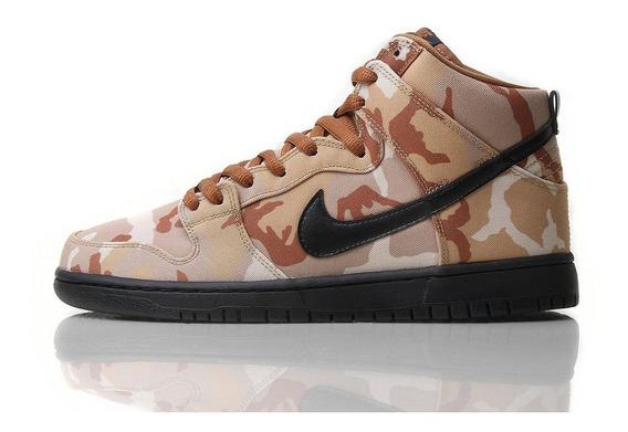 Nike Sb Dunk High Pro Desert Camo Mayma Sneakers