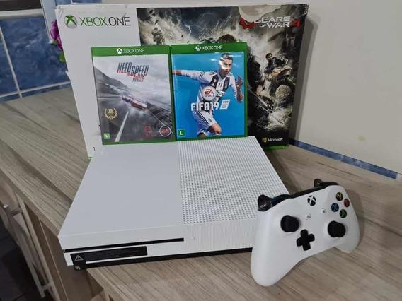 Xbox One S 1 Tb 1 Controle E 2 Jogos Muito Novo A Vista 1899