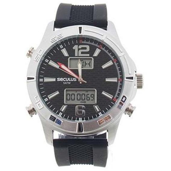 Relógio Masculino Seculus 20751g0svni1 - Prata/preto