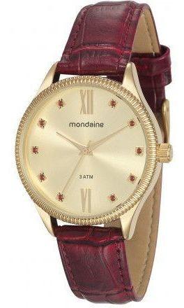 Relógio Feminino Mondaine 76680lpmvdh1 Dourado Original