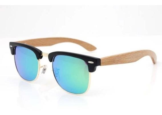 Gafas De Sol Unisex Montura En Bambu Y Plastico Lentes Tac