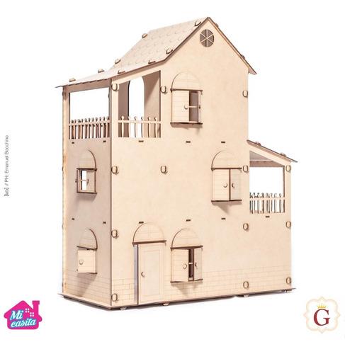 Casa Casita De Muñecas En Fibro Fácil Sin Muebles