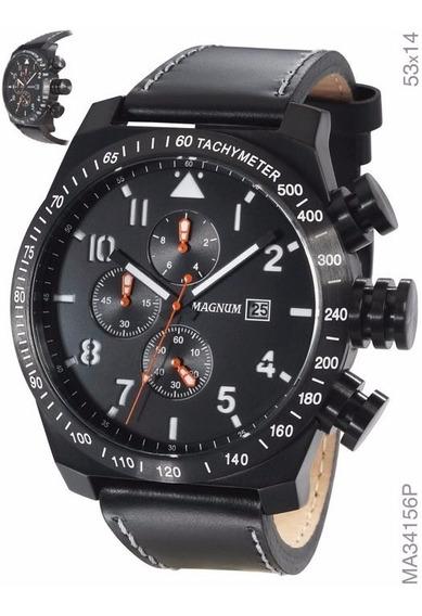 Relógio Magnum Cronógrafo Ma34156p Frete Gratis