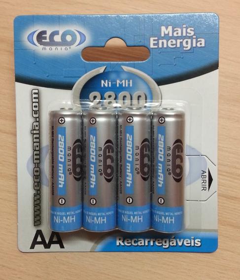 Pilas Baterias Recargables Doble Aa 2800 Mah 4 Unidades Xtc