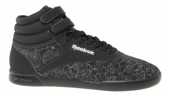 Botita Reebok Freestyle Flower Ultra. Black-racs164