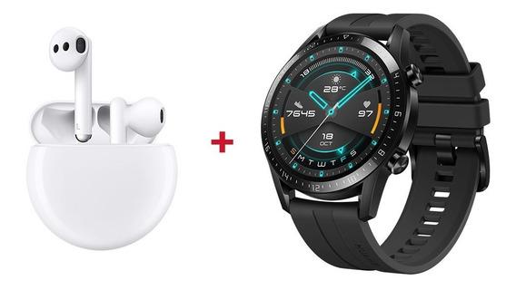 Combo Huawei Freebuds 3 + Watch Gt2 Nuevos Garantia
