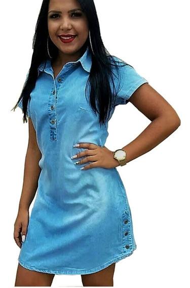 Roupas Femininas Vestido Médio Chemise Moda Evangélica 0021