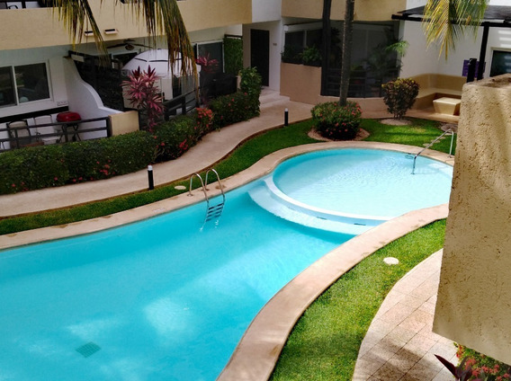 Se Renta Departamento Amueblado En Peregrinas Zona Centro Playa Del Carmen P2878
