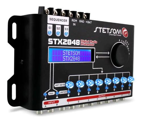 Processador De Áudio Stetsom Stx2848 2 Canais 8 Saídas