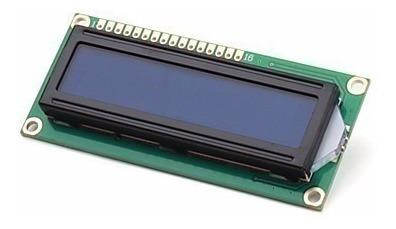 Tela Display Lcd 16 X 2 Caracteres Fundo Azul - Arduino/pic