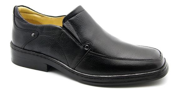 Sapato Masculino 910 Em Couro Floater Preto Doctor Shoes