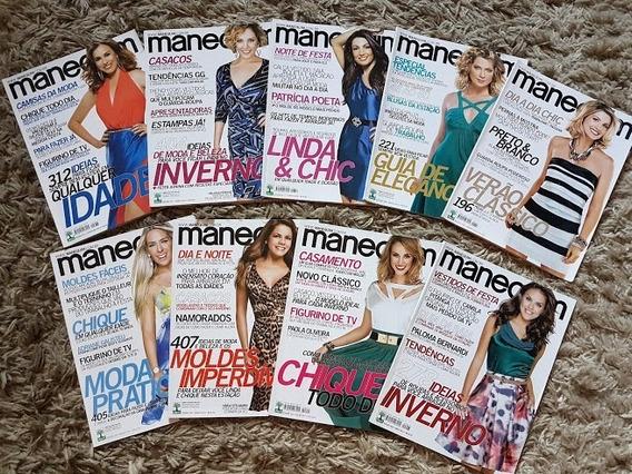 Revista Manequim Lote De 9 Revistas Com Moldes