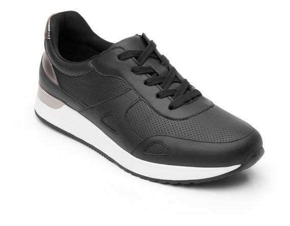 Sneaker Trendy Flexi Dama 37710 Negro