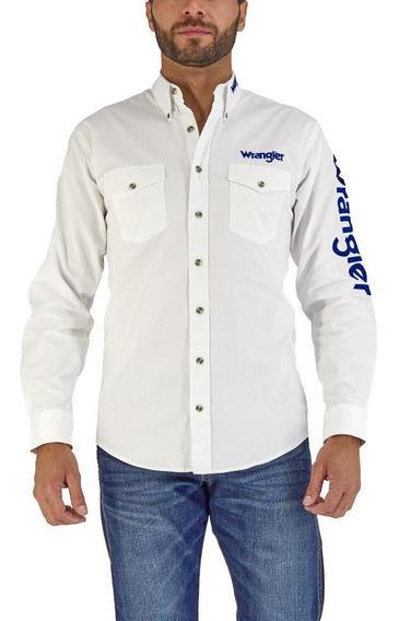 Camisa Vaquera Wrangler Hombre Manga Larga 011