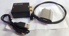 Conversor Audio Digital Para Analogico Rca Ps4 Xbox One Tv