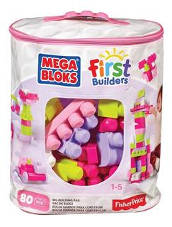 Mega Block Gran Bolsa Para Construir 80 Pcs / Version Niña