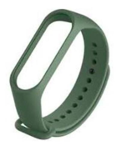 Imagem 1 de 1 de Pulseira Extra Silicone Verde Militar Smartband M3 / M4