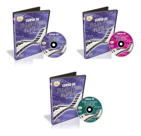Curso Teclado Popular 3 Dvds Intermediário - Original-edon