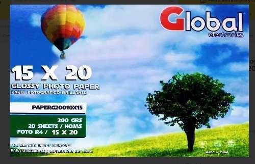 Papel Fotografico Glossy A5 15 X 20 200g X 20 Hojas 15x20