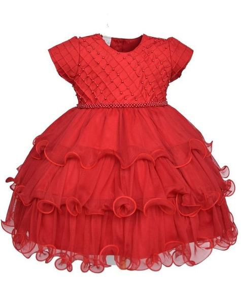 Vestido Festa Infantil Nelu