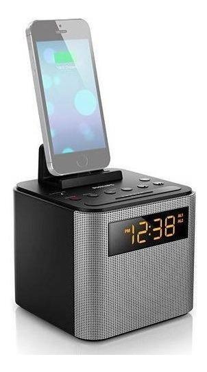 Rádio Relógio Despertador Philips Com Speaker Ajt3300/37