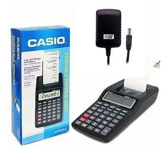 Calculadora Bobina Casio Hr 8 E Fonte De Alimentação 6v