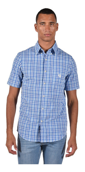 Camisa Classic Fit Chaps Azul 750689098-30cy Hombre