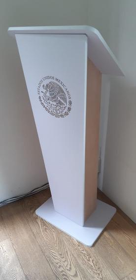 Atril - Pulpito- Podium De Madera Y Mdf Minimalista
