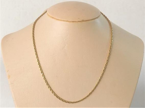 Gargantilha Cordão Cardana Em Ouro 18 K 750 40 Cm