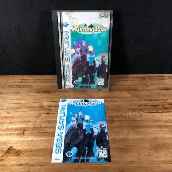 Winning Post 100% Original Long Box P/ Sega Saturn!! Raro!!