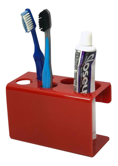 Suporte Escova De Dente Creme Dental 4 Escovas