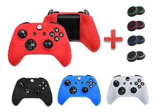 Combo Forro Control Xbox One Silicone + Joysticks Ps4 Oferta