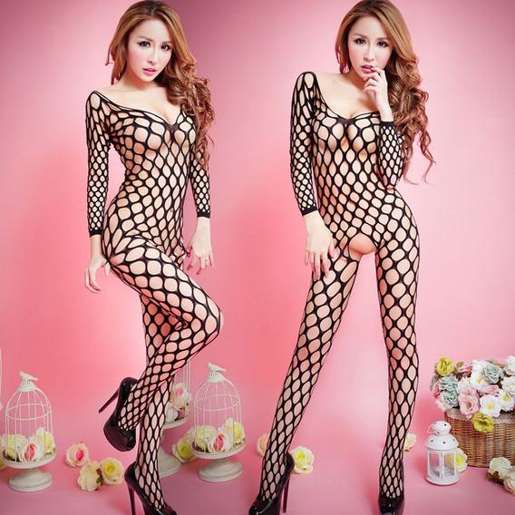 Vestido Feminino Para Dormir Roupa Interior Babydoll Fishnet
