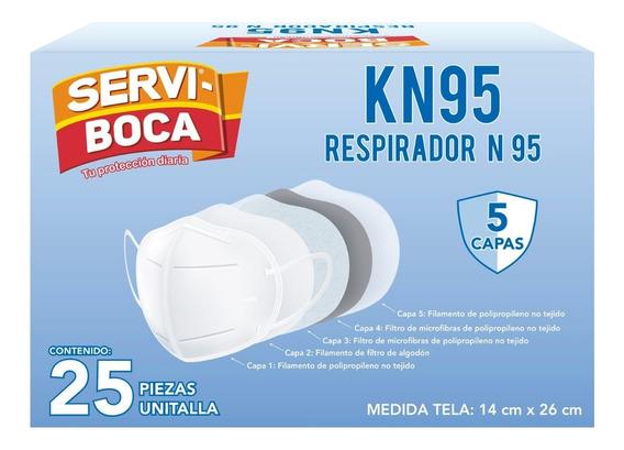 Cubre Boca Servi-boca Kn95 Caja Con 25pzs