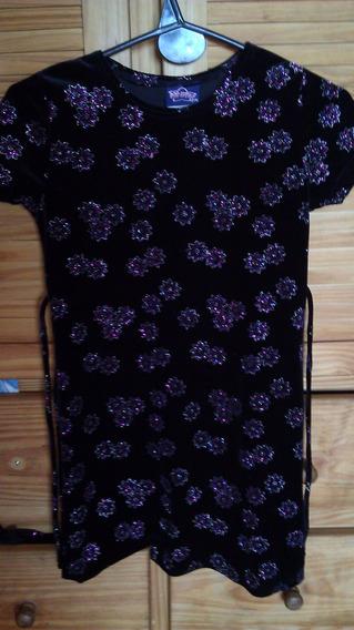 Nuevo !vestido Nena Importado Con Brillos Talle 6