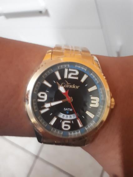 Relógio Condor Dourado Aprova Dgua