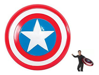 Escudo Capitan America 45cm! El Mas Grande! Agarre Doble!