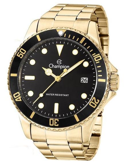 Relógio Champion Analógico Dourado Aço Masculino Ca31266u